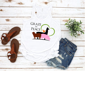 Graze in Peace Flowy Tank - Ruff Life Rescue Wear