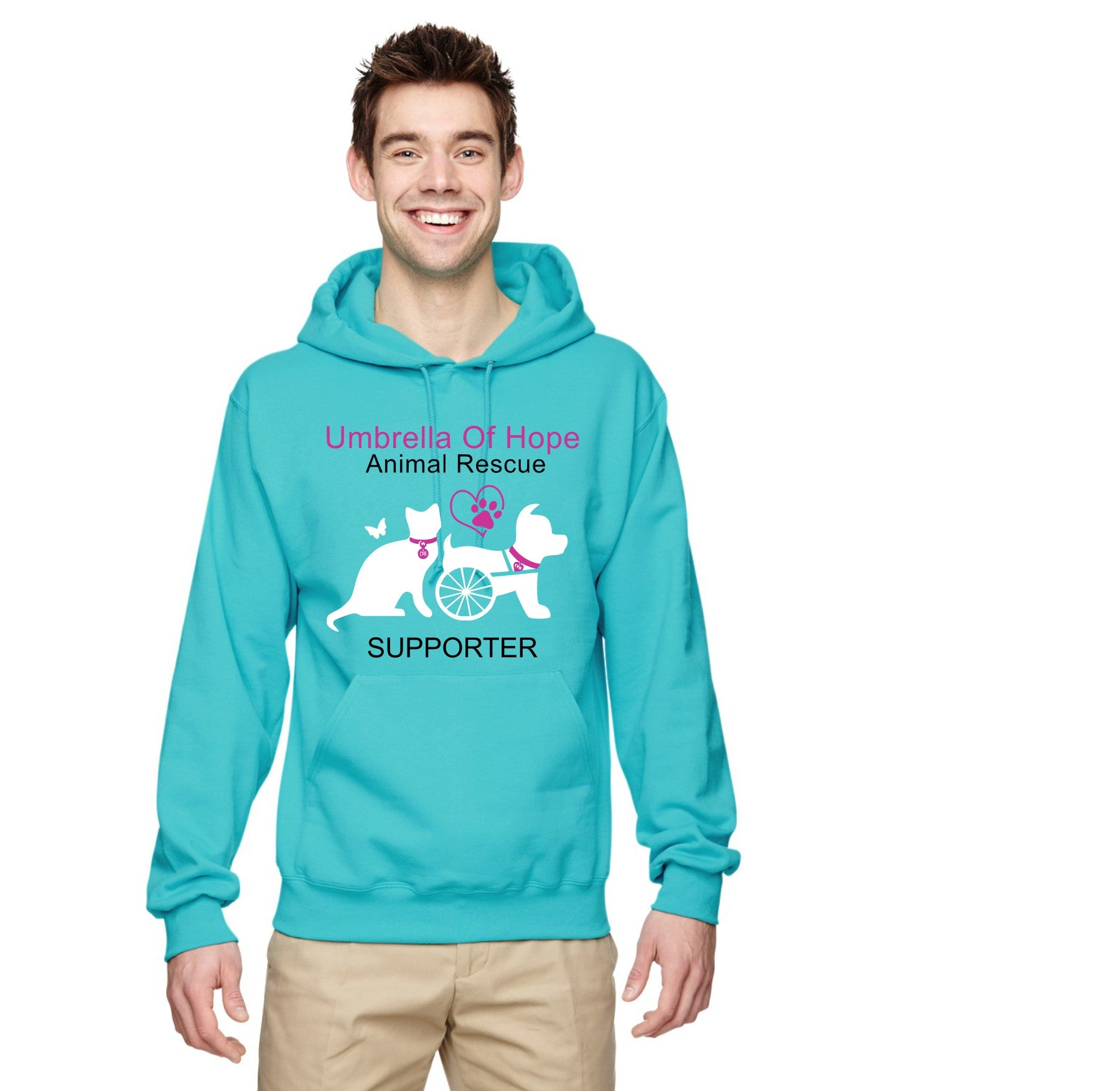 Umbrella of Hope Unisex Pullover Hoodie - Ruff Life Rescue Wear