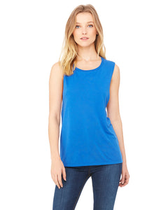 DSC Ladies' Flowy Scoop Muscle Tank - Ruff Life Rescue Wear