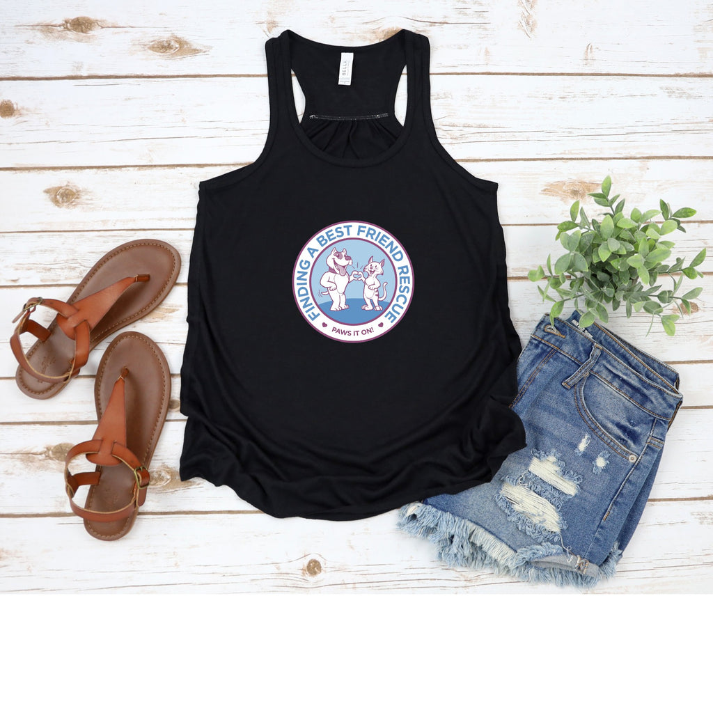 Finding a Best Friend Flowy Racerback Tank - Ruff Life Rescue Wear