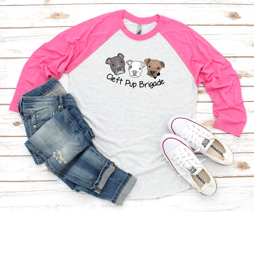 New Cleft Pup Brigade - Raglan Tee - Ruff Life Rescue Wear