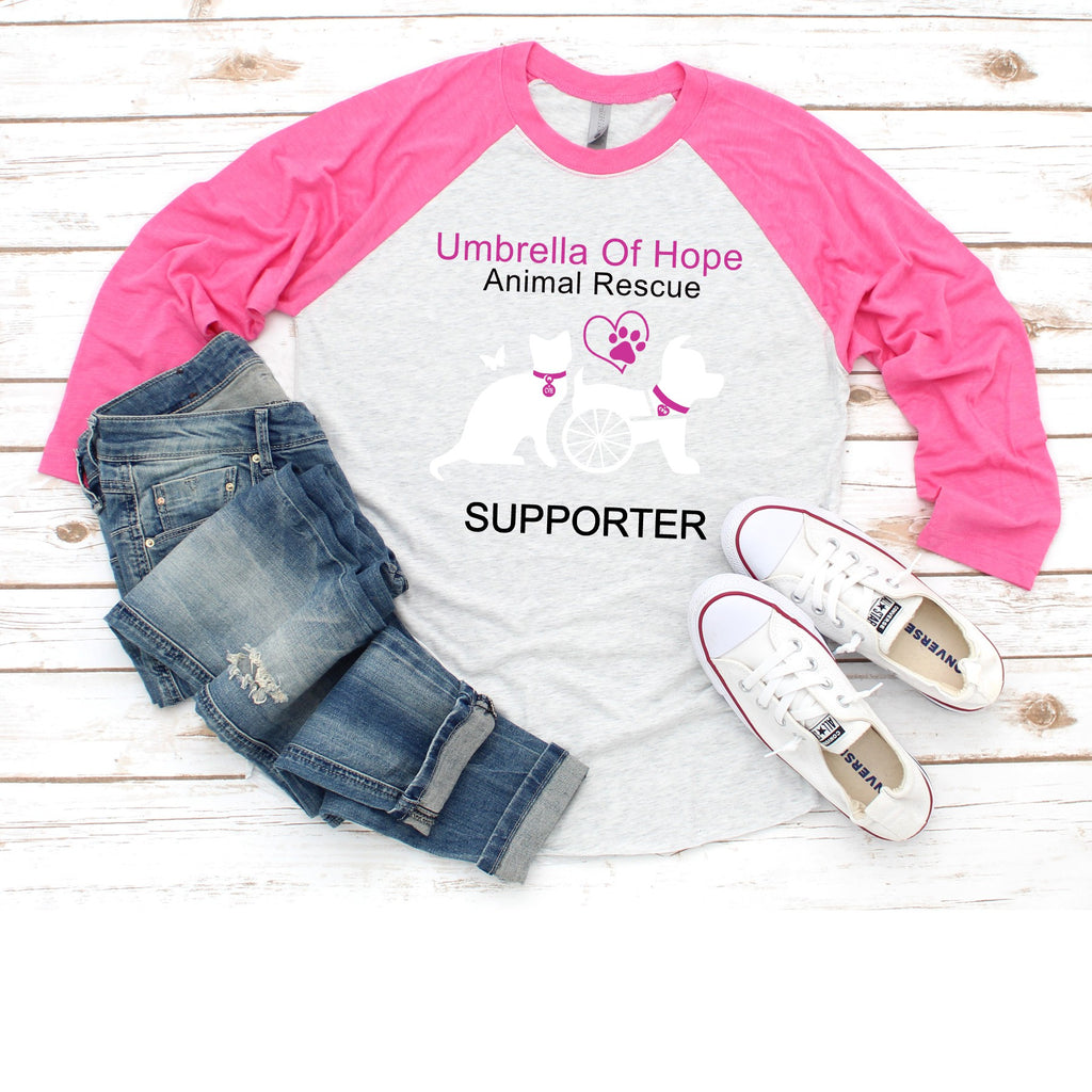 Umbrella of Hope - Raglan Tee - Ruff Life Rescue Wear