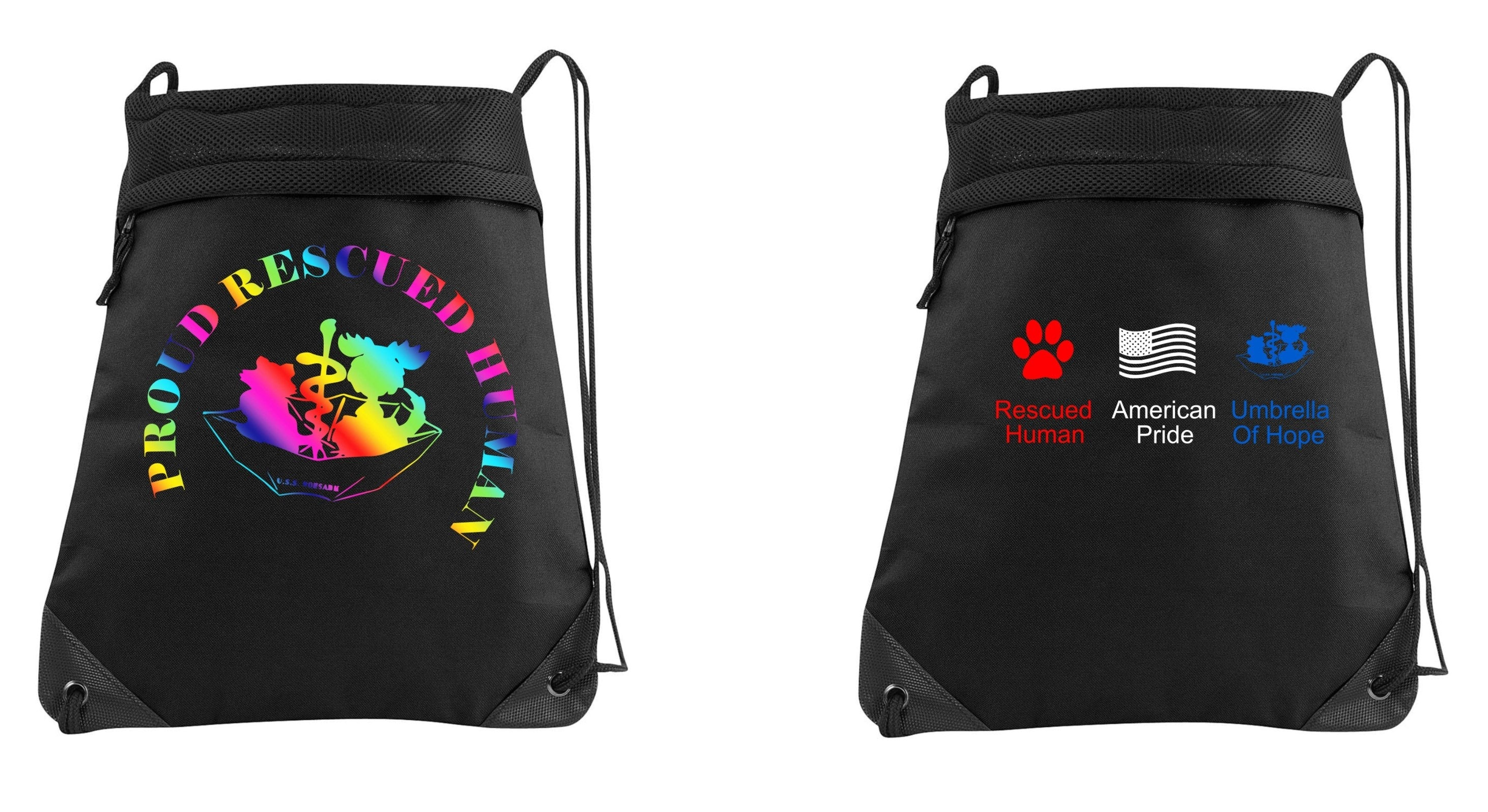 Umbrella of Hope Drawstring Backpack - Ruff Life Rescue Wear