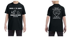 Umbrella of Hope Rescue- Youth Tee - Ruff Life Rescue Wear