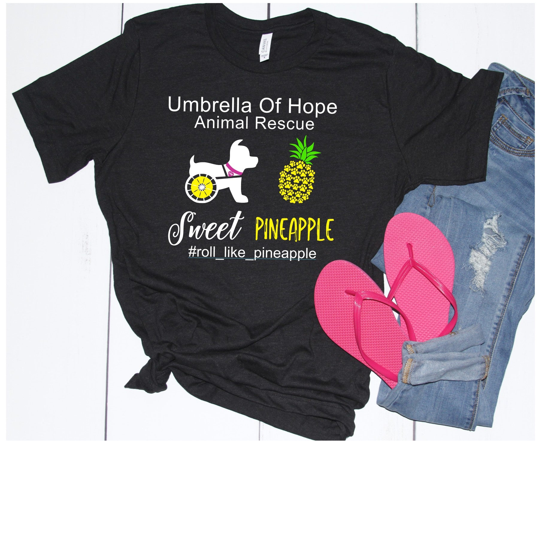 Sweet Pineapple Umbrella of Hope Unisex - Ruff Life Rescue Wear
