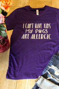 Allergic Tee- Slouchy and Relaxed Fit - Ruff Life Rescue Wear