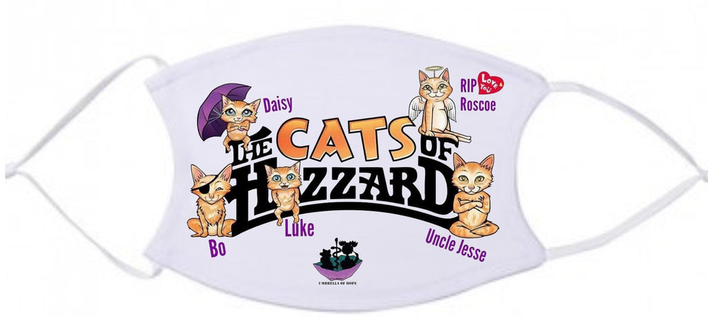 Umbrella of Hope Cats of Hazard Face Mask - Ruff Life Rescue Wear