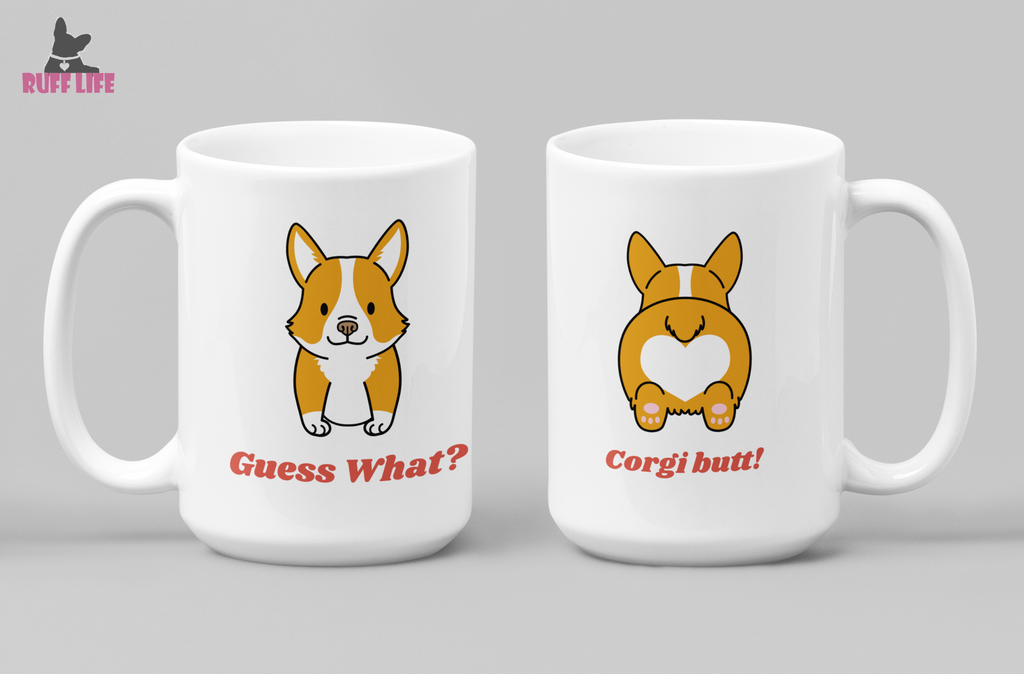 Corgi Pug Butt Coffee Mug - Ruff Life Rescue Wear