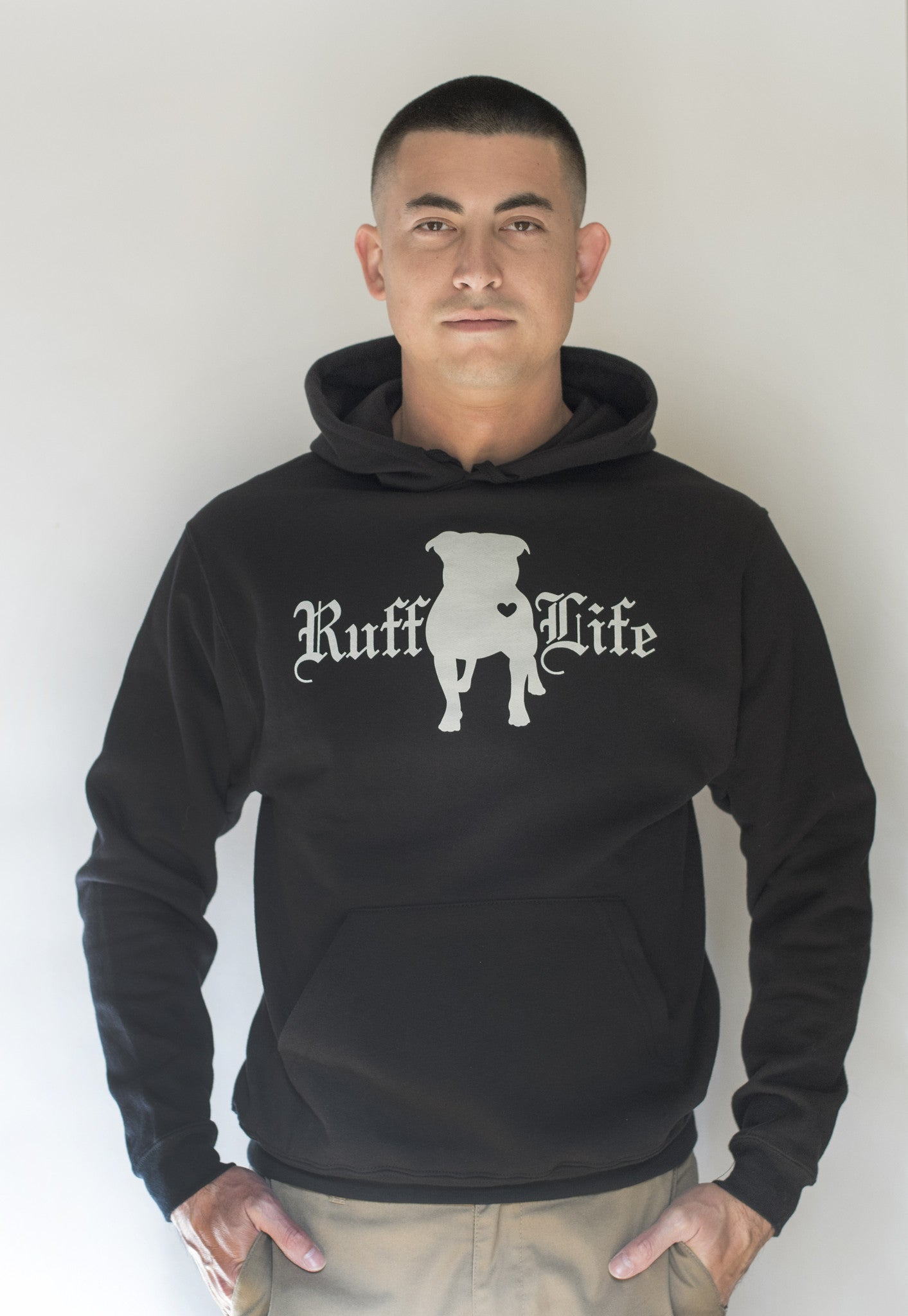 Unisex Pitty Pull Over Hoodie - Ruff Life Rescue Wear