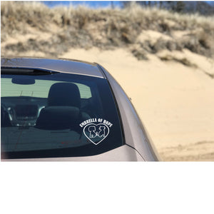 Umbrella of Hope Vinyl Decal - Ruff Life Rescue Wear