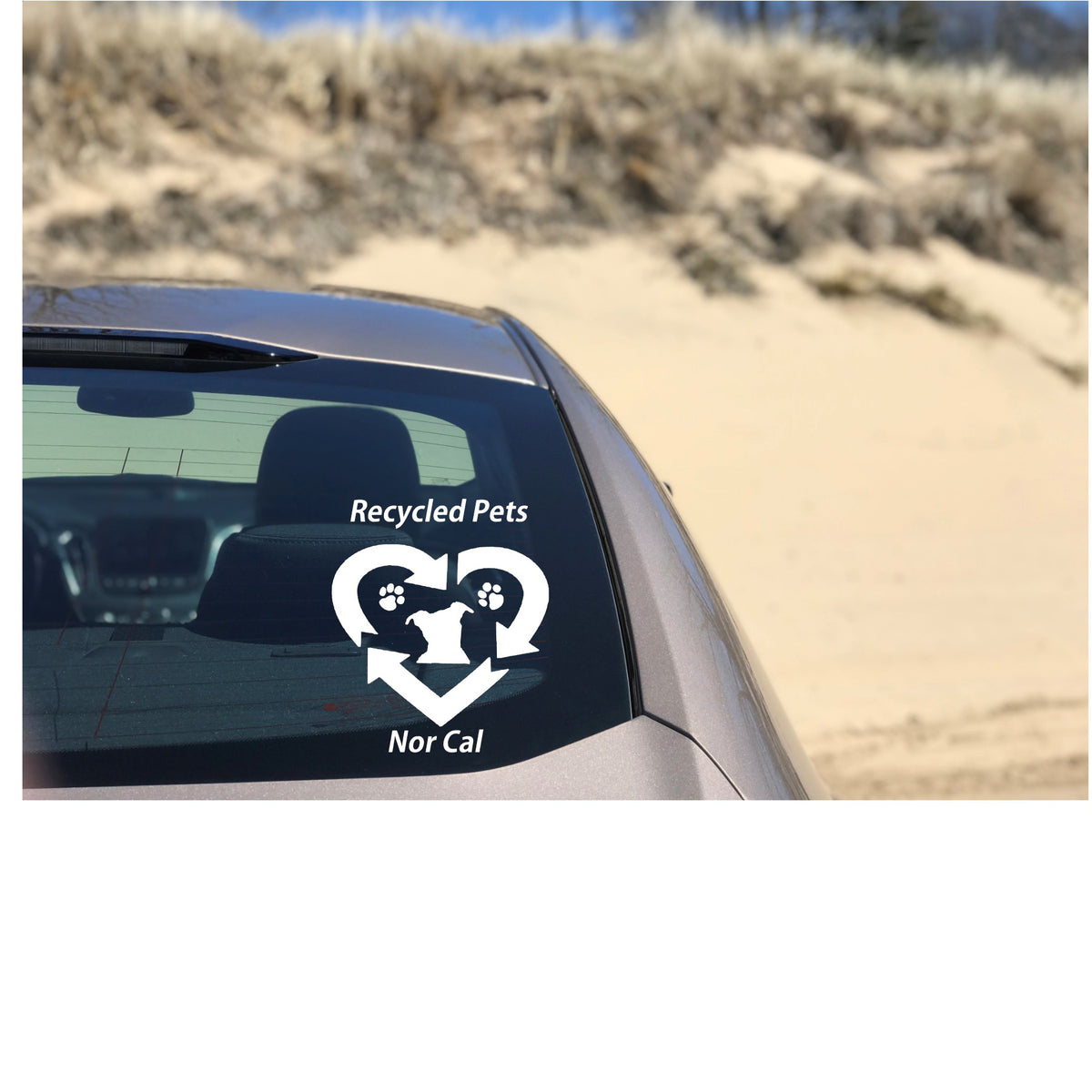 Recycled Pets NorCal Rescue Vinyl Decal - Ruff Life Rescue Wear