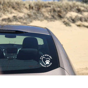 It's A New Day Rescue Vinyl Decal - Ruff Life Rescue Wear