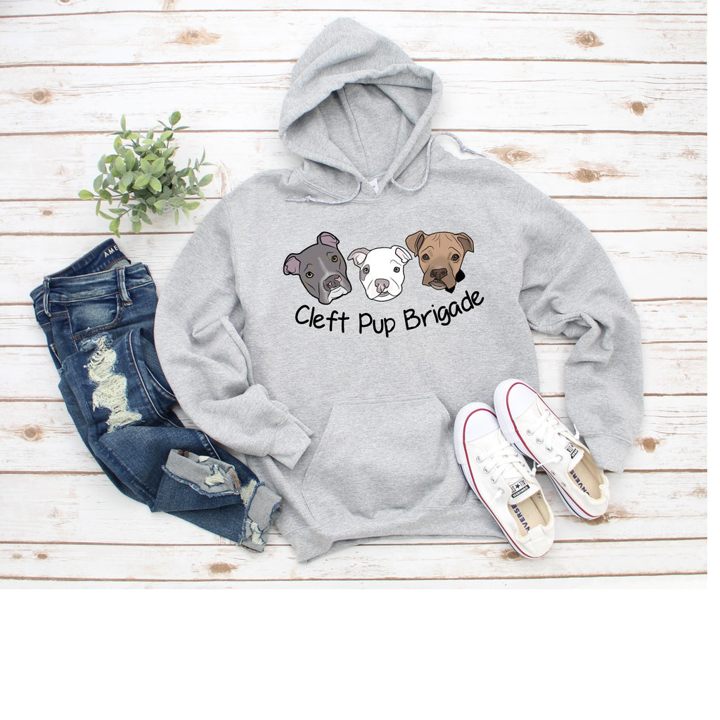 New Cleft Pup Brigade Sponge Fleece Pullover Hoodie - Ruff Life Rescue Wear