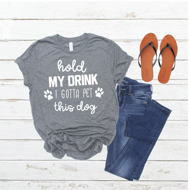 Hold My Drink Unisex Tee - Ruff Life Rescue Wear