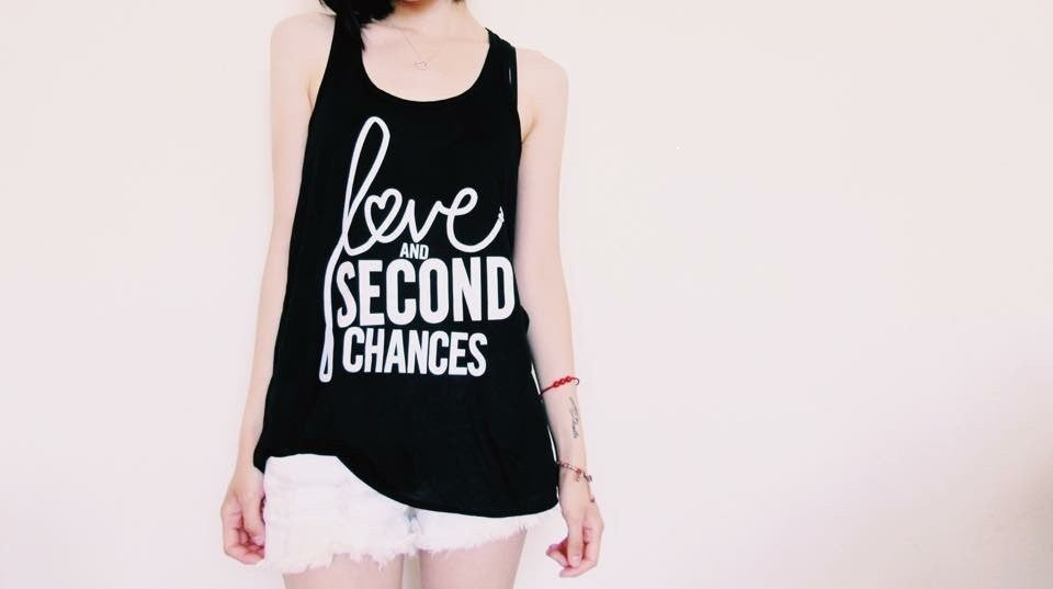 Love and Second Chances Women's Racerback Tank - Ruff Life Rescue Wear