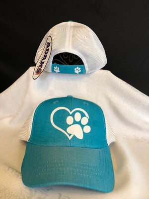 Heart Paw Cap - Ruff Life Rescue Wear