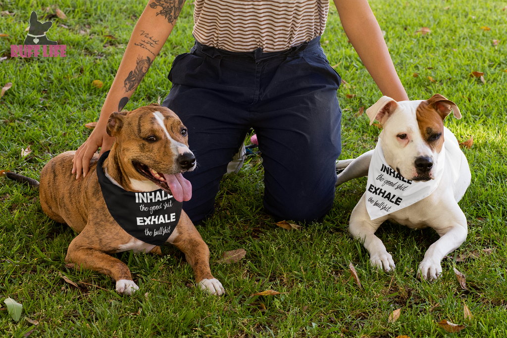 Inhale Exhale Bandana - Ruff Life Rescue Wear