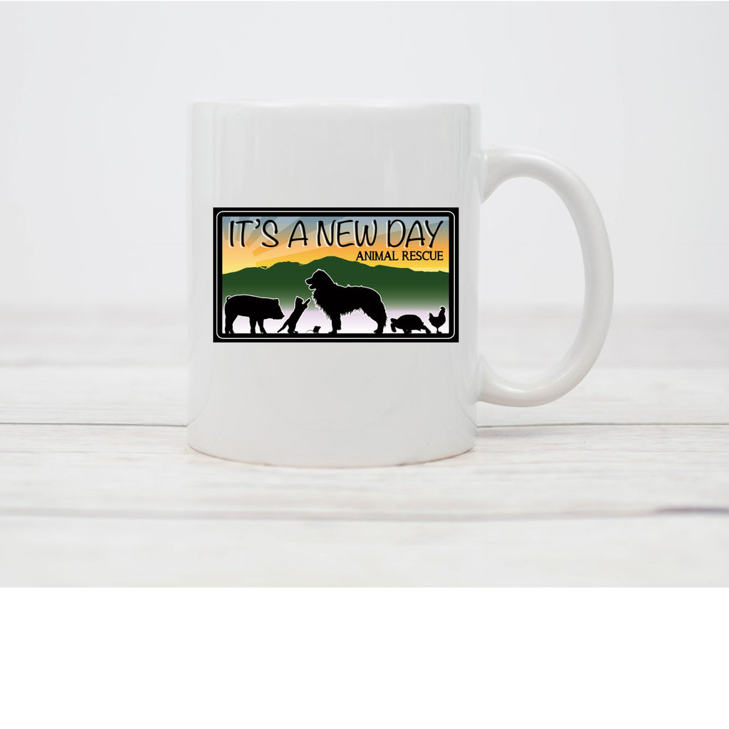 It's A New Day Coffee Mug - Ruff Life Rescue Wear