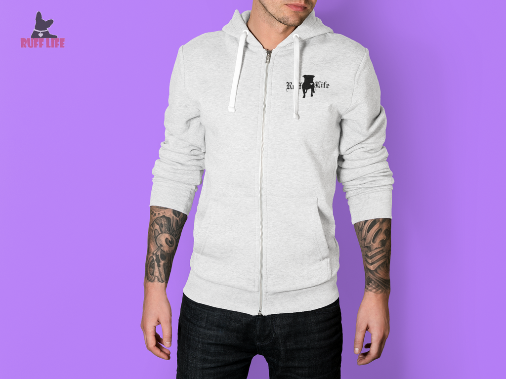 Pitty Zip Up Hoodie - Ruff Life Rescue Wear
