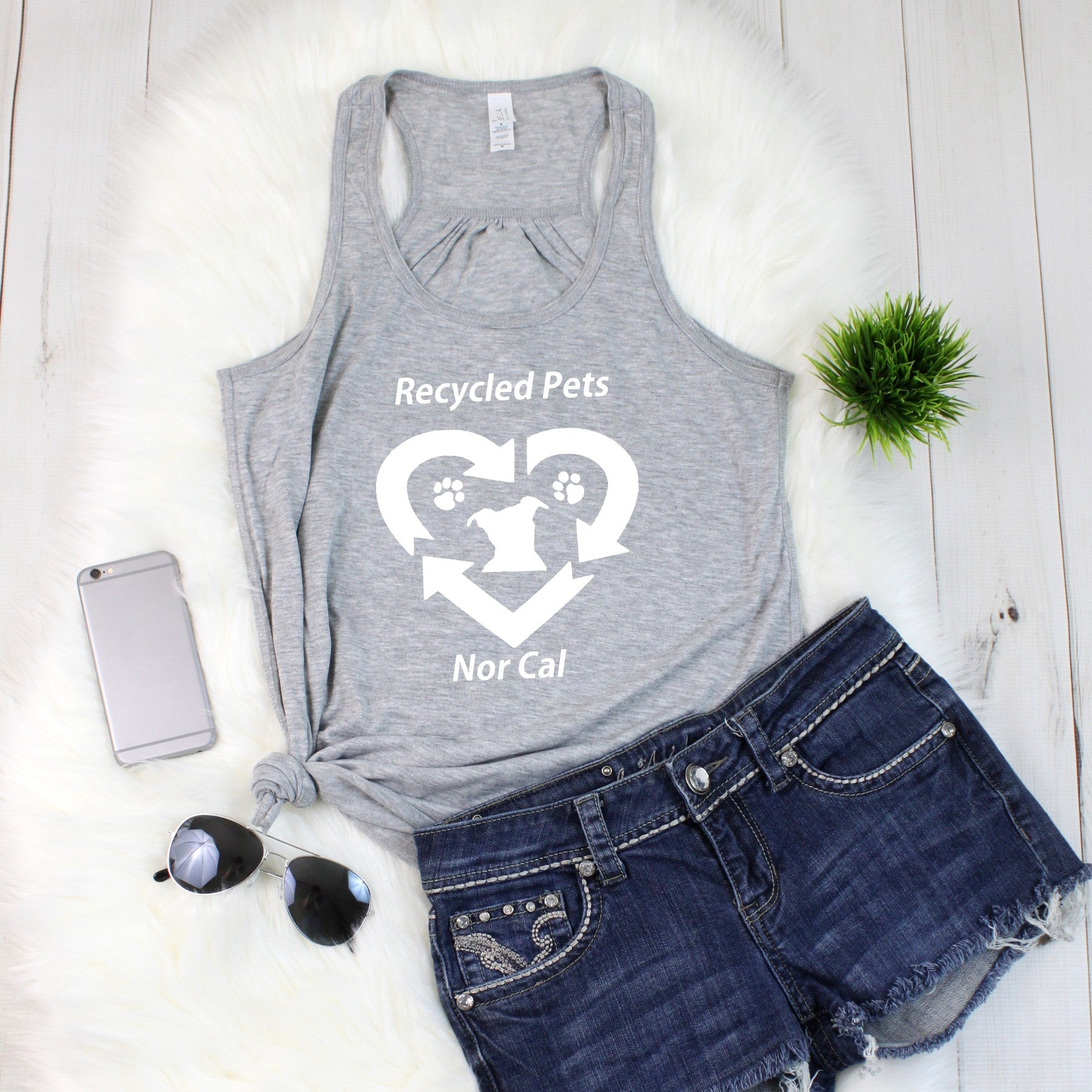 Recycled Pet NorCal Flowy Tank - Ruff Life Rescue Wear