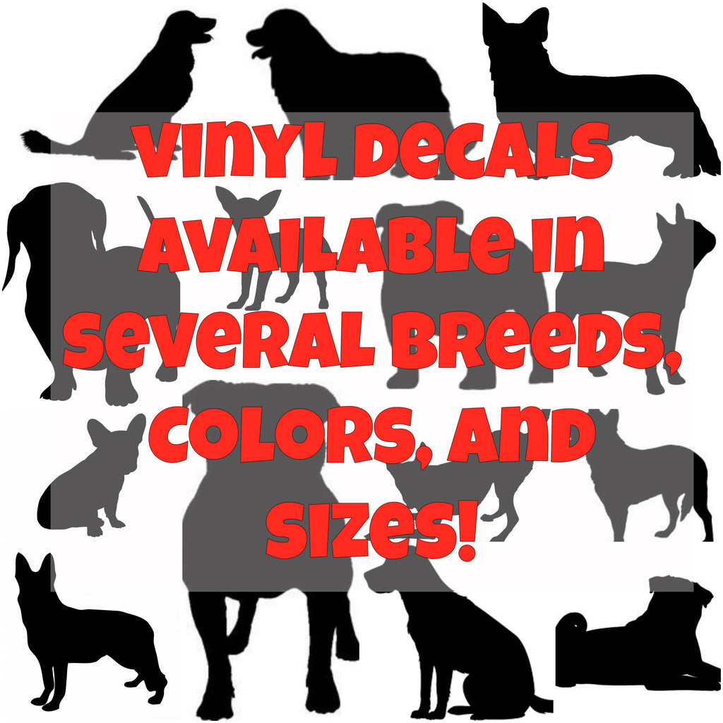 Dog Breed Silhouette Vinyl Decal - Ruff Life Rescue Wear