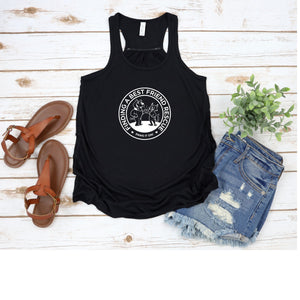 New Finding a Best Friend Flowy Racerback Tank - Ruff Life Rescue Wear