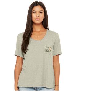 Graze in Peace -Ladies Slinky Jersey T-shirt - Ruff Life Rescue Wear