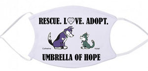 Umbrella of Hope Dog & Cat Face Mask - Ruff Life Rescue Wear