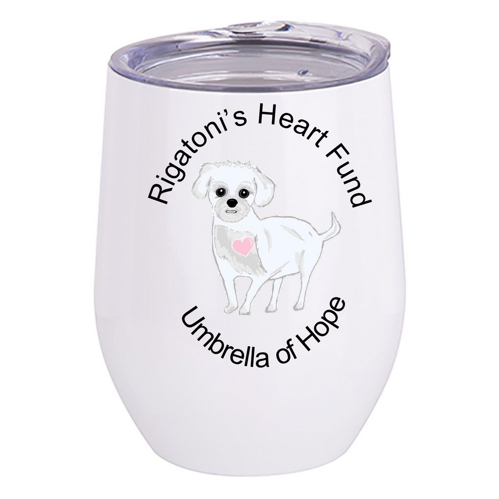Rigatoni's Heart Fund Wine Tumbler - Ruff Life Rescue Wear