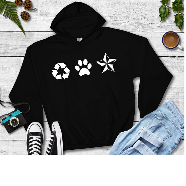 New Recycled Pets Pull Over Hoodie - Ruff Life Rescue Wear