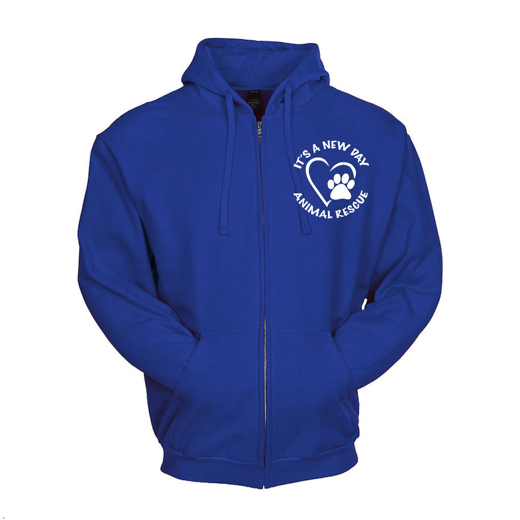 It's A New Day Unisex Zip Up Hoodie - Ruff Life Rescue Wear