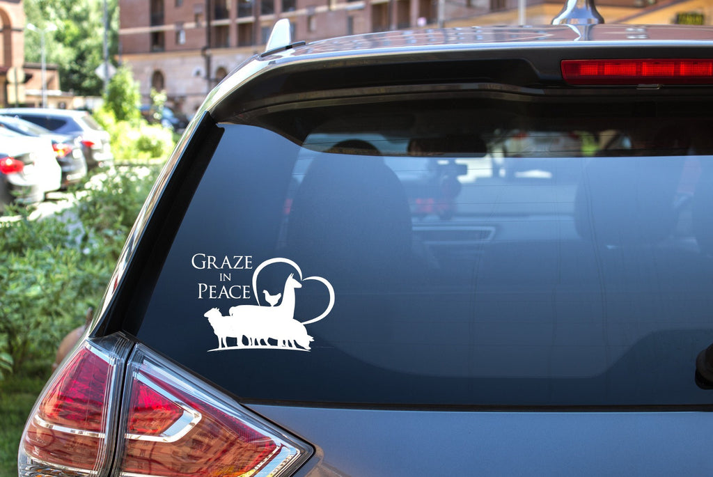Graze in Peace Vinyl Decal - Ruff Life Rescue Wear