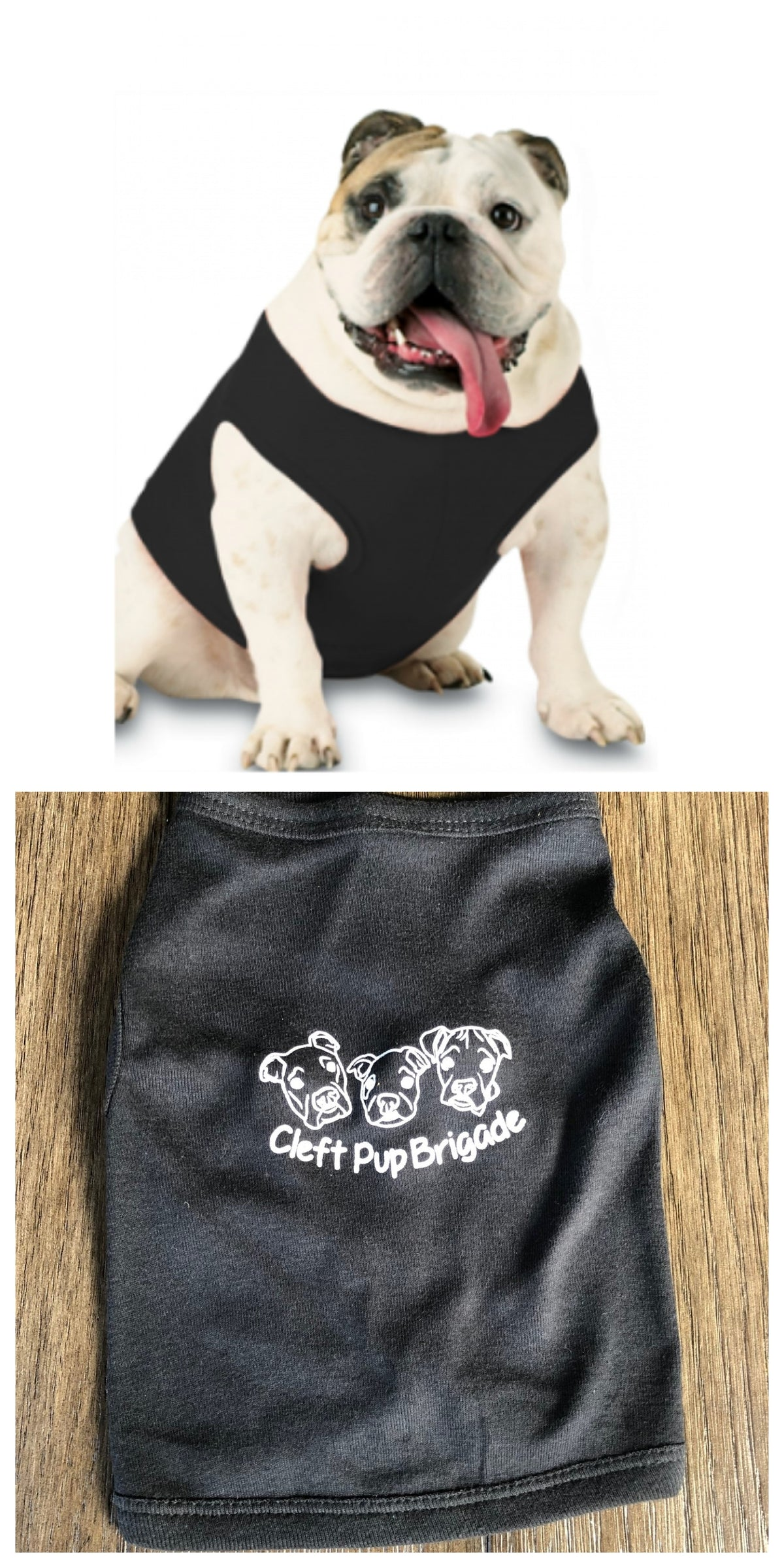 Cleft Pup Brigade -Doggie Tee - Ruff Life Rescue Wear