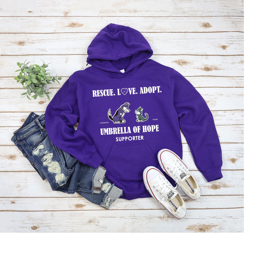 Umbrella of Hope Rescue - Unisex Pullover Hoodie - Ruff Life Rescue Wear