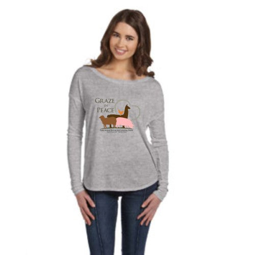 Graze in Peace Flowy Long-Sleeve T-Shirt