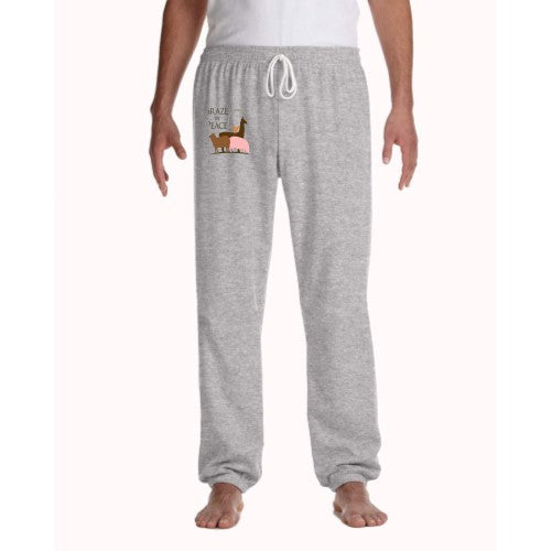 Graze in Peace Unisex Fleece Long Scrunch Pant