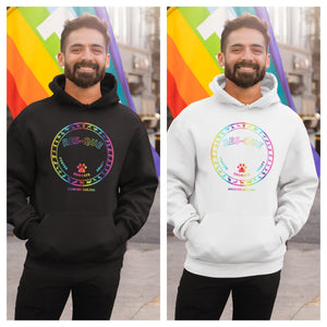 Pride Umbrella of Hope - Unisex Pullover Hoodie - Ruff Life Rescue Wear