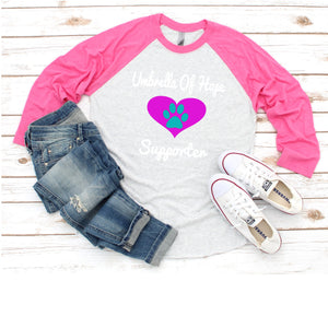 Heart Umbrella of Hope - Raglan Tee - Ruff Life Rescue Wear
