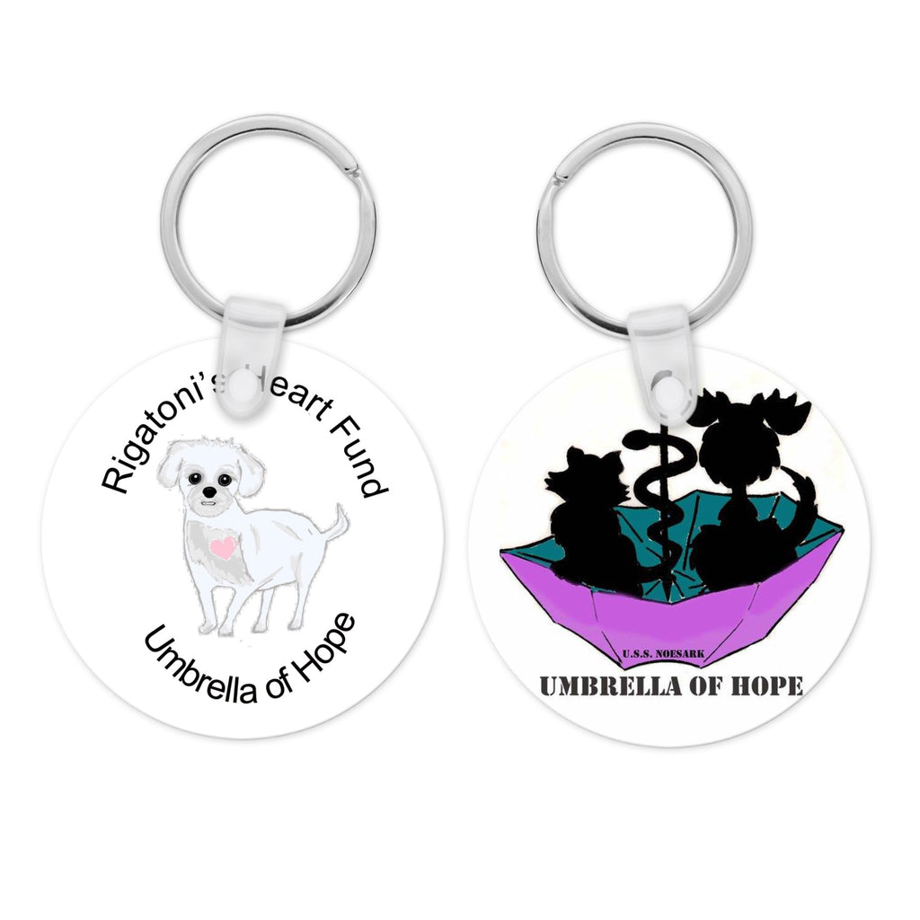 Rigatoni's Heart Fund Keychains Double-Sided Pendants - Ruff Life Rescue Wear