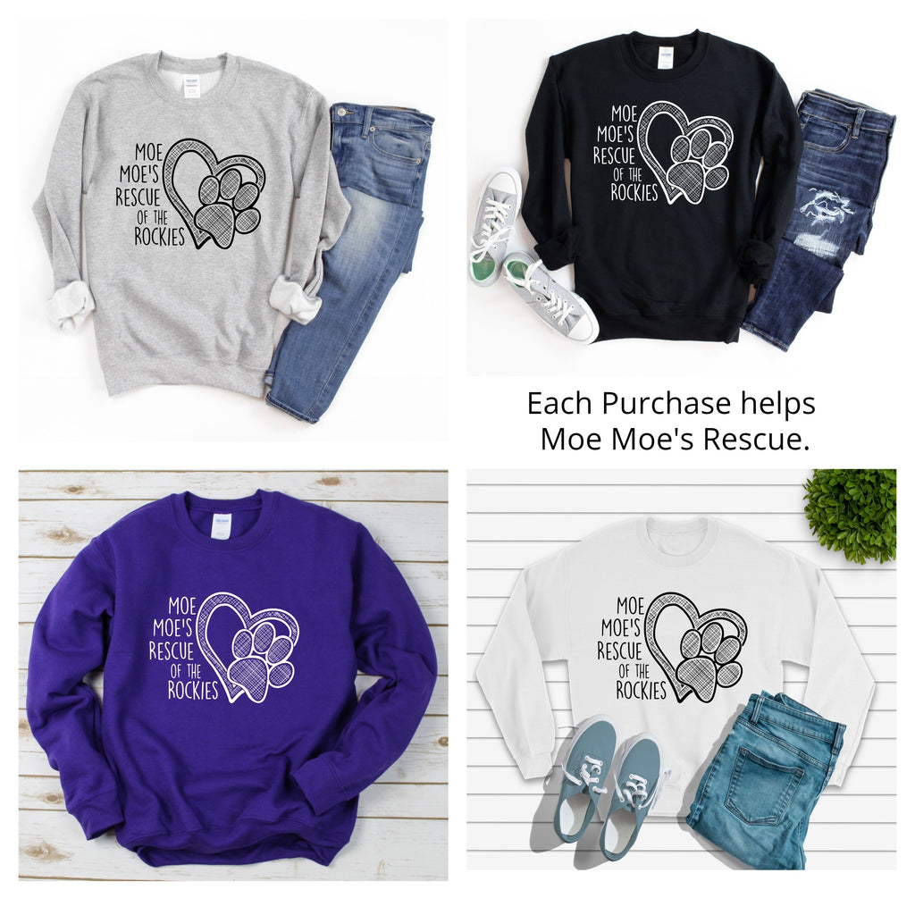 Moe Moe's Unisex Sweat Shirt - Ruff Life Rescue Wear