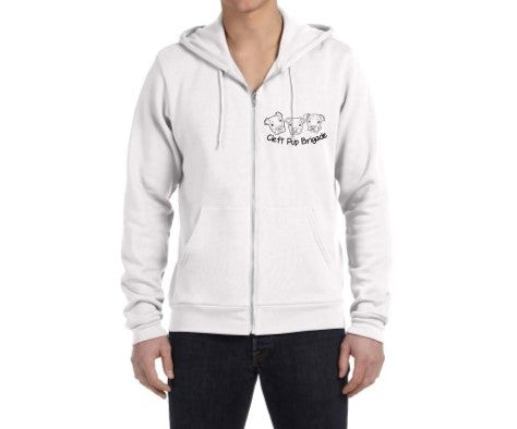 Cleft Pup Brigade Pull Zip Up Hoodie - Ruff Life Rescue Wear