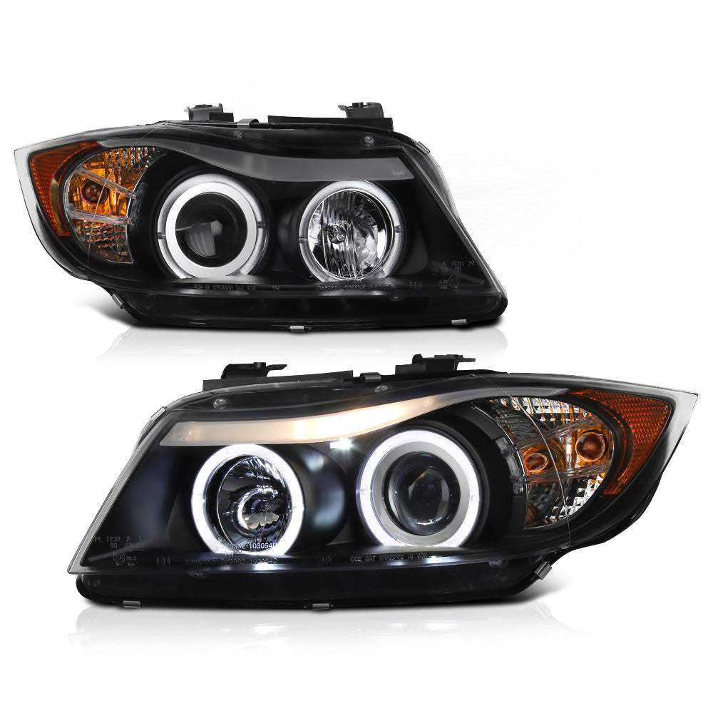 oneighty series products bmw headlights led out blk
