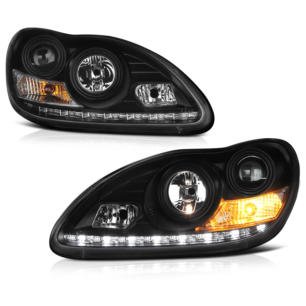 Daytime Running Led Strip Infinity Black Projector Headlights