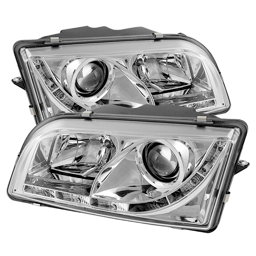 Daytime Running Led Strip Sterling Chrome Projector Headlights