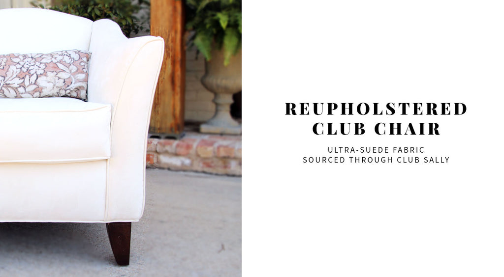 Reupholstered club chair