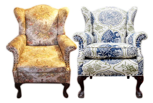 Before and After reupholstery