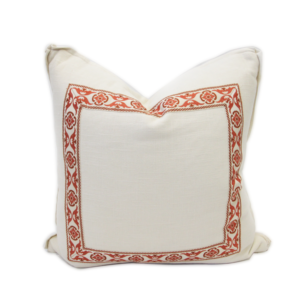 French Coral Pillow
