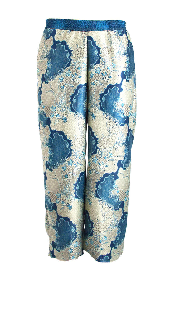 Silk Pants in Koyari Steelblue
