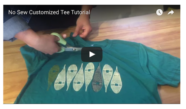 DIY Tutorial: How to Quickly Make a No-Sew Customized Tee!