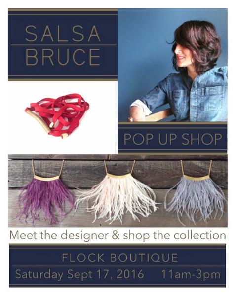 Salsa Bruce Pop Up Shop @ Flock Boutique, Sept. 17th 11-3pm. * Tastes of Wellington West *